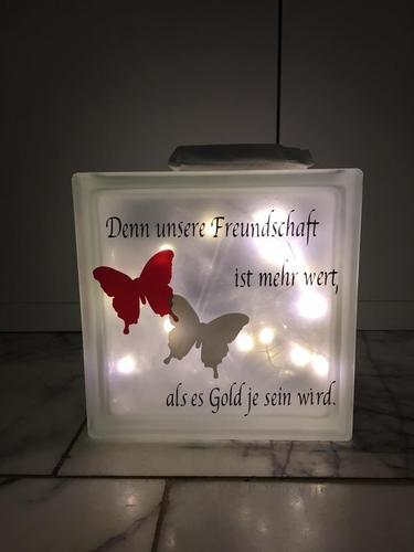Glasbausteine Als Lampe Mit Led Beleuchtung